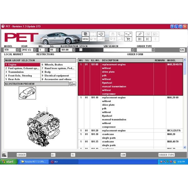 porsche electronic parts catalog  pet  7 3 at lowest price