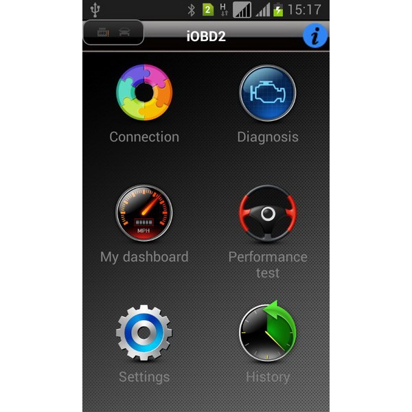 iobd vw andriod scanner software main function software screen