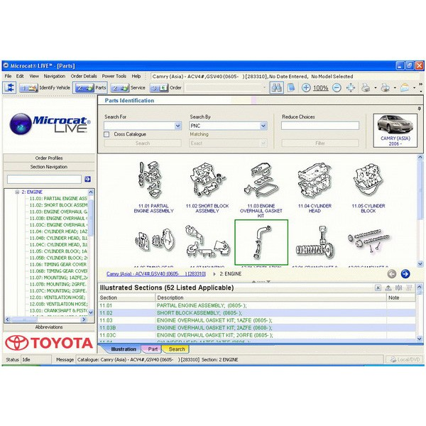 Toyota microcat live Electronic parts catalogue