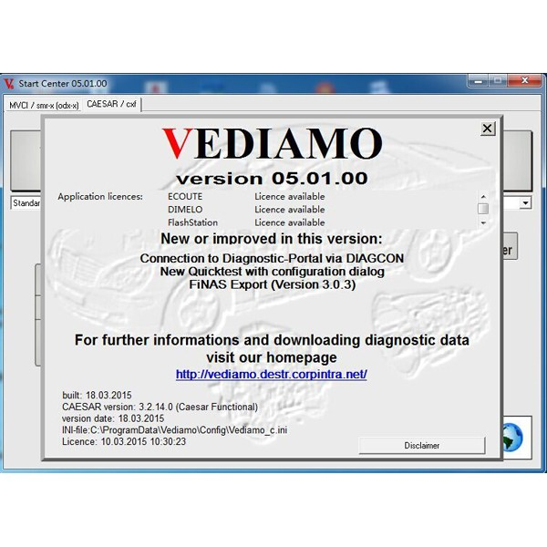 Benz Vediamo V05.01.00 factory developer software for SD Connect C4