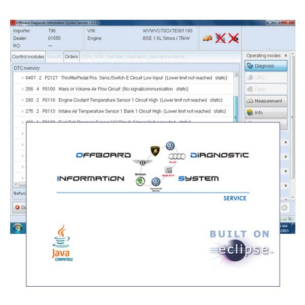 VAS5054A ODIS 3.0.1 with PostSetup 9.0.10 Free Download