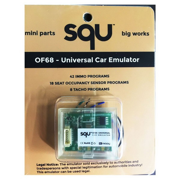 SQU OF68 Emulator for IMMO/Seat accupancy sensor/Tacho Programs