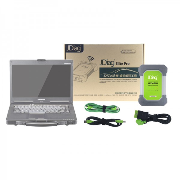 JDiag Elite II Pro With Panasonic CF53 Laptop 4G RAM i5 CPU
