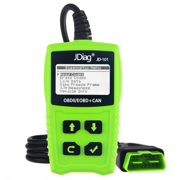 JDiag JD101 Code Reader for OBDII/EOBD/CAN From 1996 Original