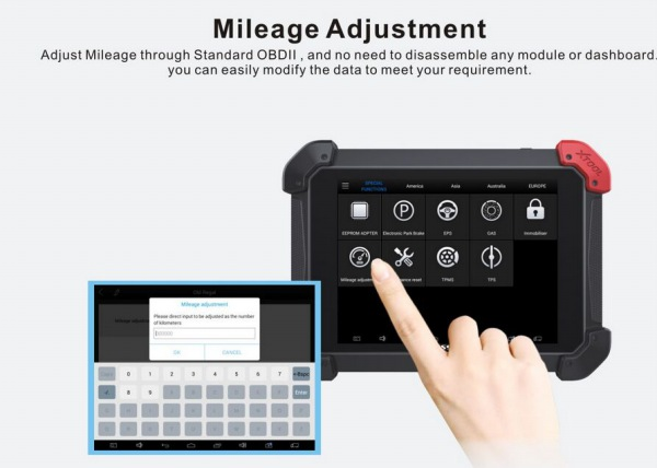 PS90 Tablet Scanner Mileage