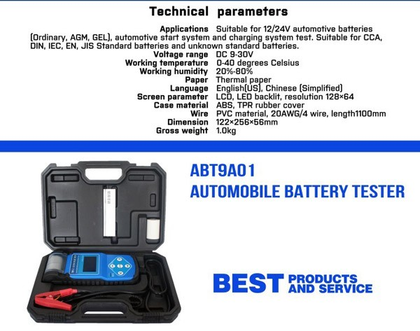 Automotive Battery Tester