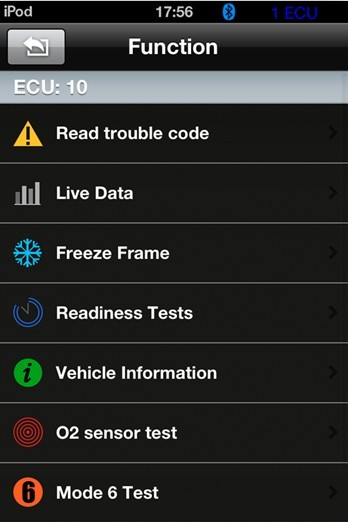 iOBD2 iPhone Android bluetooth tool