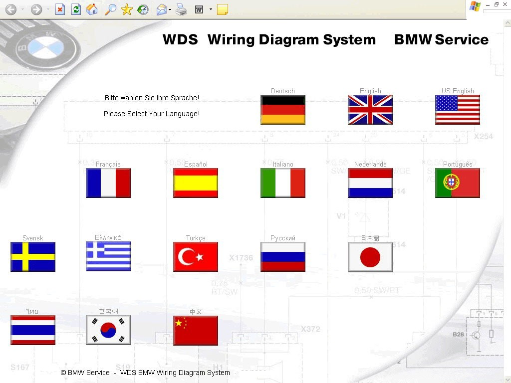 bmw wds v14 wiring diagram system software dvd. Black Bedroom Furniture Sets. Home Design Ideas