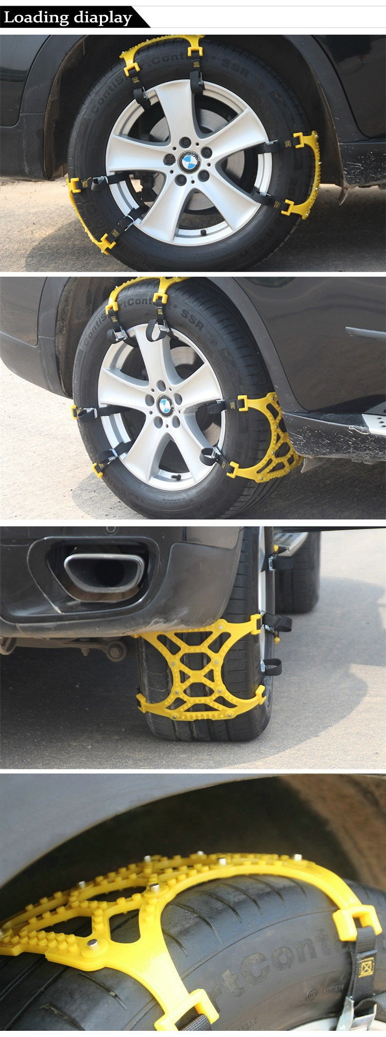 Car Tire Skid Chain For Universal Car Tire 165mm ~ 265mm