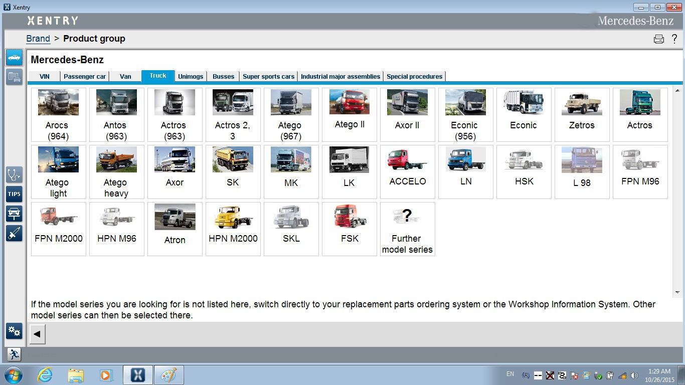 DAS Xentry Win7 SSD FOR SD C4 TRUCK LIST