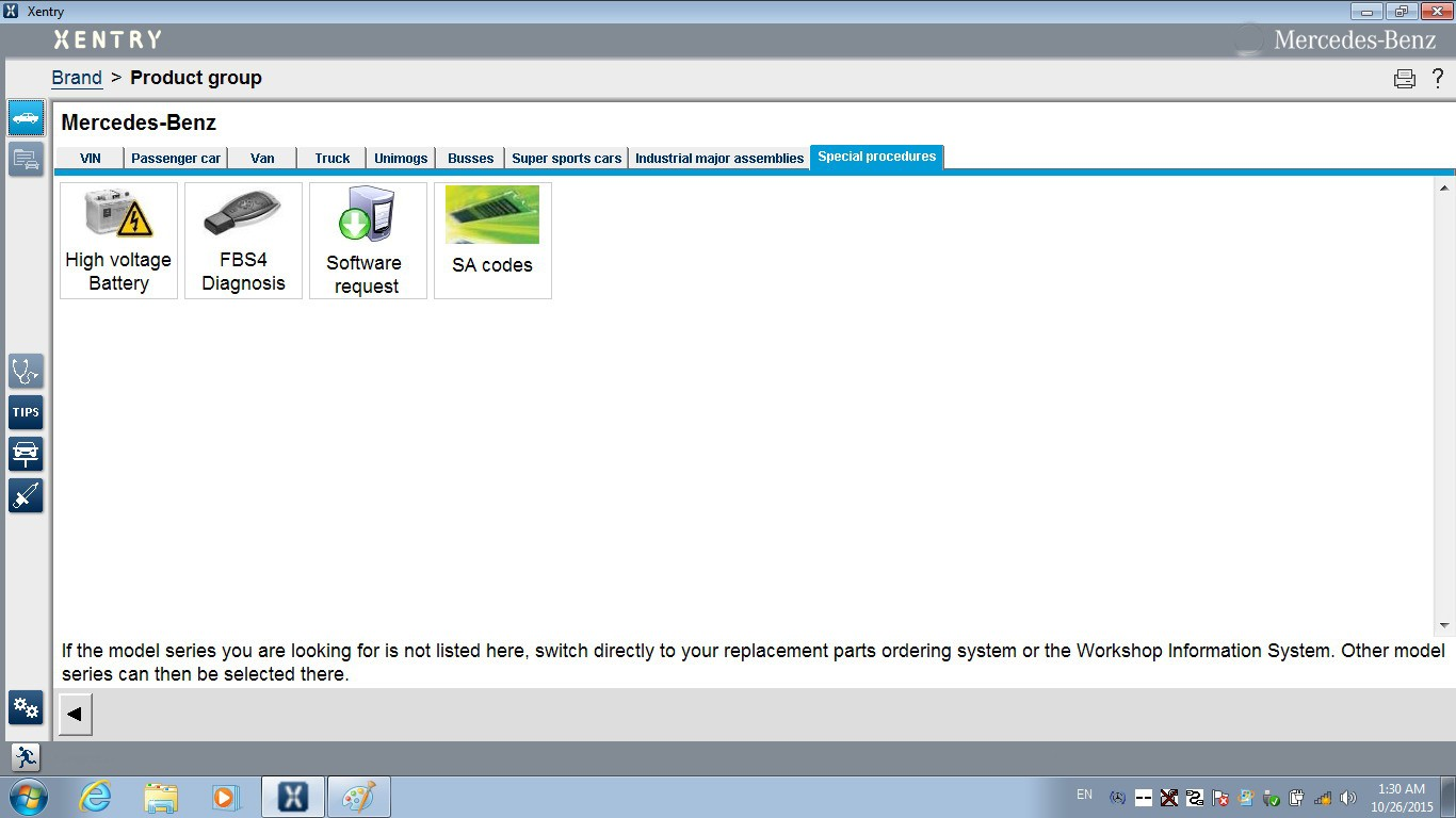 DAS Xentry Win7 HDD FOR SD C4 Special functions