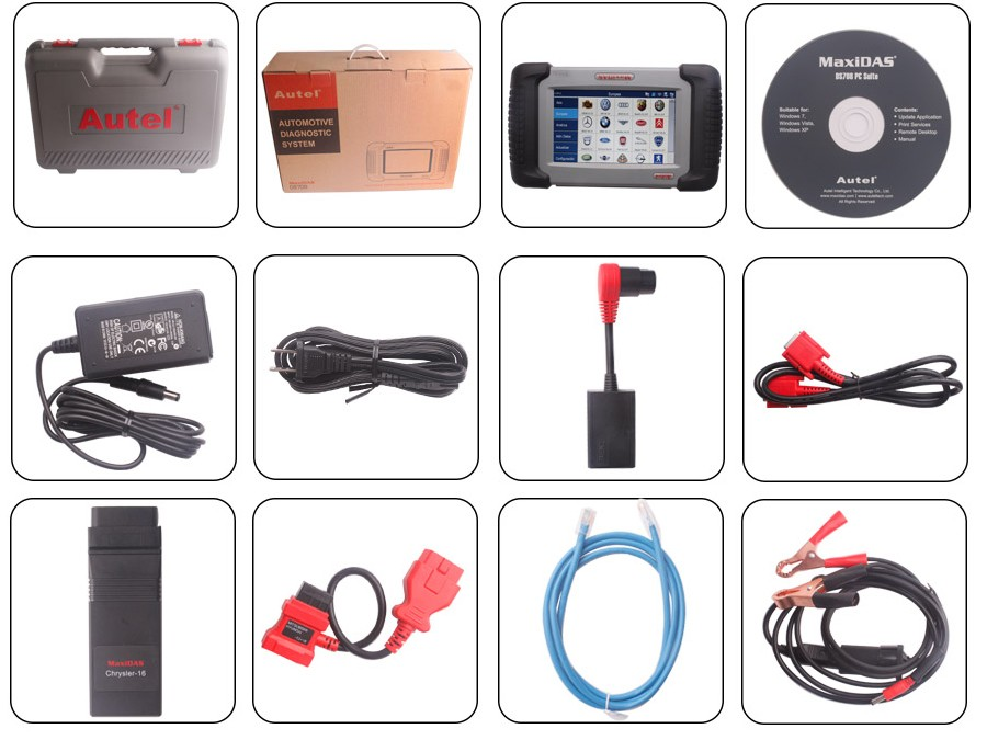 autel ds708 spanish package list